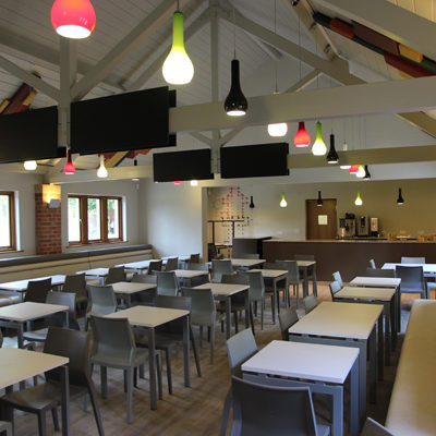 Interior of Minster Refectory, Southwell – extended dining area and upgraded commercial kitchen