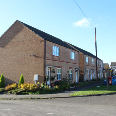 10 two-bedroom houses in South Witham, Lincs.