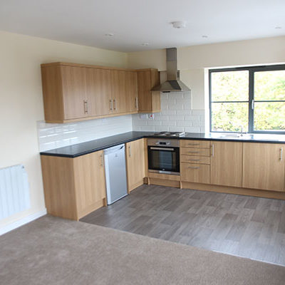 Interior of recently completed mixed use scheme in Burton upon Trent -apartments for rent.