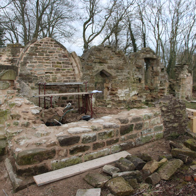 The ruined chapel at Haughton is a Scheduled Monument - conservation of a building at risk